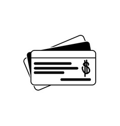 Check money business financial line style icon vector