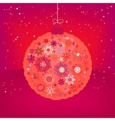 Christmas card ball vector image