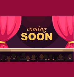 Coming soon flat banner template vector