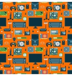 Computer parts seamless pattern vector