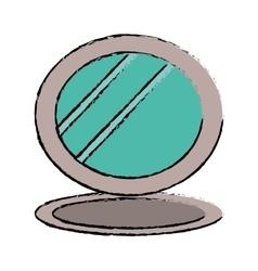 cosmetic mirror icon image vector image