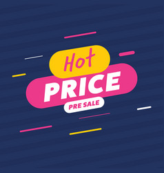creative label for hot price sale vector image