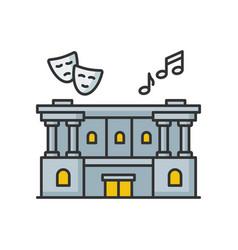 Cultural center rgb color icon vector