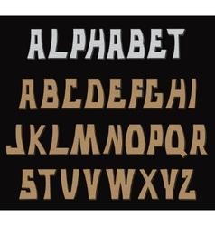 Decorative textured ABC letters Alphabet vector