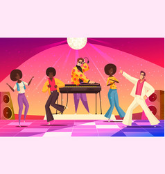 disco party fun background vector image