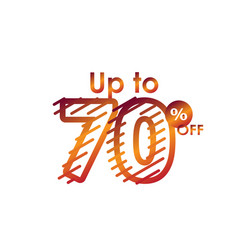Discount up to 70 off label sale line gradient vector