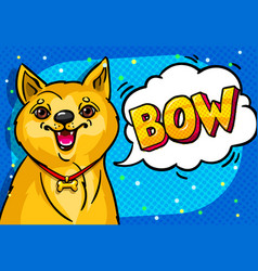 dog with open mouth and speech bubble vector image