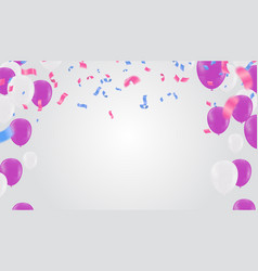 festive birthday background with balloon vector image