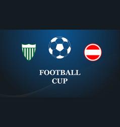 football match design vector image