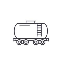 fuel tank line icon concept fuel tank vector image