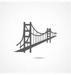 golden gate bridge icon vector image
