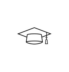 graduation cap line icon education high school vector image