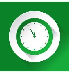 Green circle shiny icon last minute clock vector