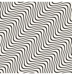Hand Drawn Wavy Diagonal Lines Seamless vector image
