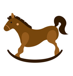 isolated wooden horse toy icon vector image