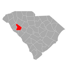 Map greenwood in south carolina vector