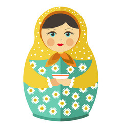 Matryoshka doll or russian nesting doll with vector