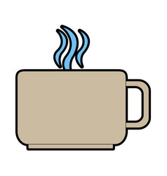 Mug or cup with hot beverage icon image vector