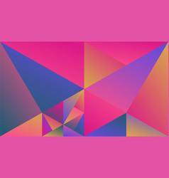 Multicolor minimal geometric gradient triangle hd vector