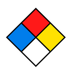 Nfpa 704 safety square sign template vector