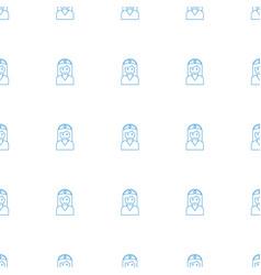 Nurse icon pattern seamless white background vector