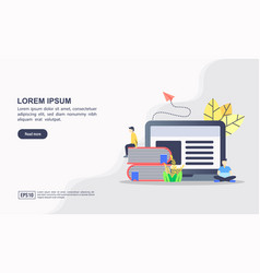 online education and learning icon vector image