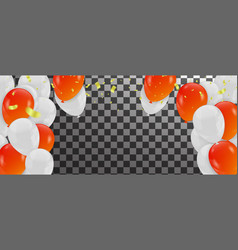 orange balloons and white balloons background vector image