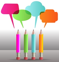 Pencil Speech Bubbles vector image
