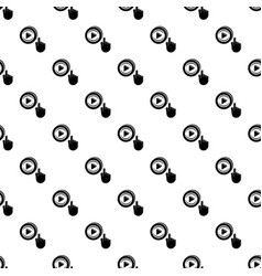play video pattern seamless vector image