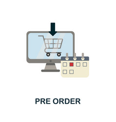 Pre order flat icon simple sign from procurement vector