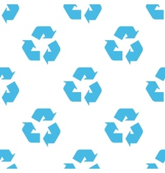 Recycling seamless pattern vector image