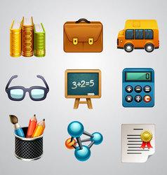 School icons-set 3 vector image