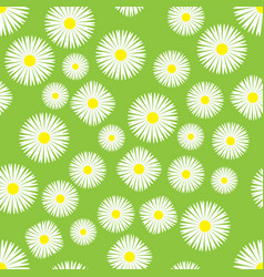 seamless background of chamomiles vector image