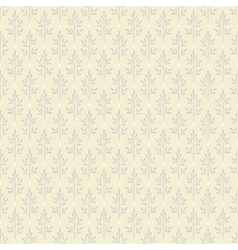 Seamless pattern with plants in pastel colors vector