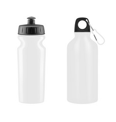 Sports water bottles on white background il vector