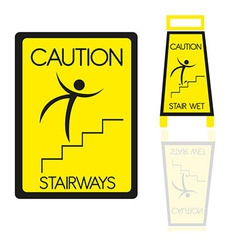 Stairways sign vector