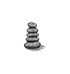 Stone balance yoga logo design inspiration vector