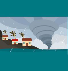 tornado hawaii island background flat style vector image