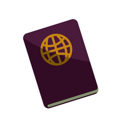 Travel passport document vector