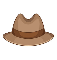 Trilby icon cartoon style vector