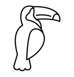 tucan icon outline style vector image