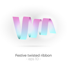twisted ribbon vector image