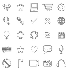 Web line icons on white background vector image