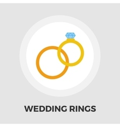 Wedding rings icon flat vector image