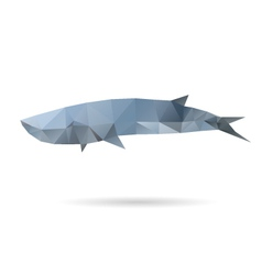 Whale isolated on a white backgrounds vector