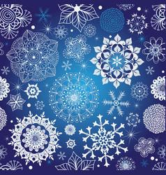 winter dark blue seamless pattern vector image