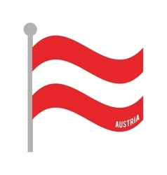 austria patriotic flag isolated icon vector image vector image