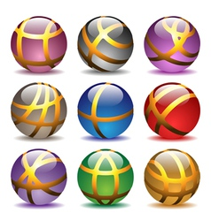 glass balls set vector image vector image