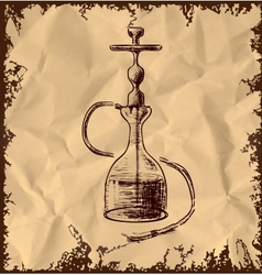 Hookah icon on vintage background vector image vector image