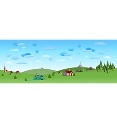 nature landscape with blue sky vector image vector image